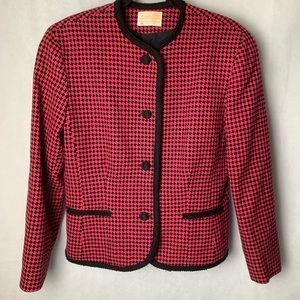 Vintage Pendleton 100% Wool Houndstooth Blazer 14
